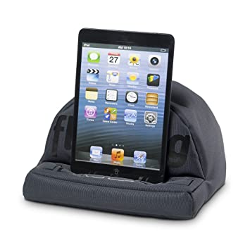 TMPRODUCTS iPad Cushion / Tablet Cushion - fläzbag® bold (dark grey)  Beanbag Pillow Stand - Silicone printed Design Bean Bag Tablet & eReader  Holder