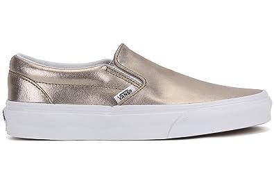894544f1447343 Vans Unisex Metallic Leather Rose Gold Slip-On - 4