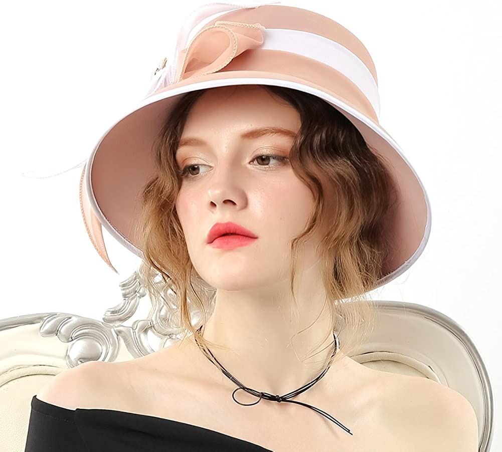 Womens Chiffon Weeding Hats Church Hats Derby Hats Occasion Event Party Outfit Hat