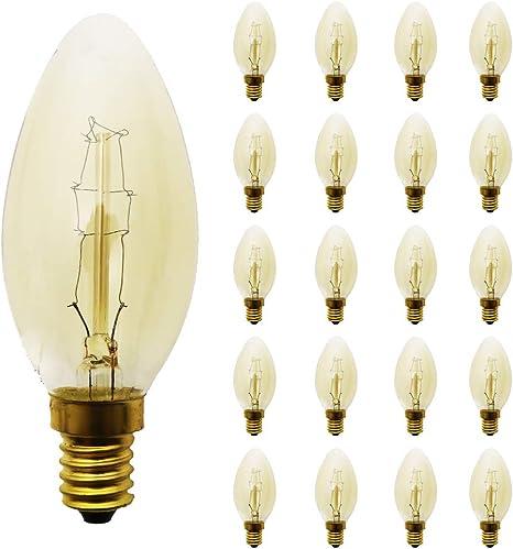 20X E14 2W LED Filament Edison Vintage Retro Glühlampe Nostalgie Glühbirne