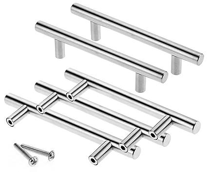 Margueras - 20 maniglie per ante di mobili e credenze, in acciaio ...