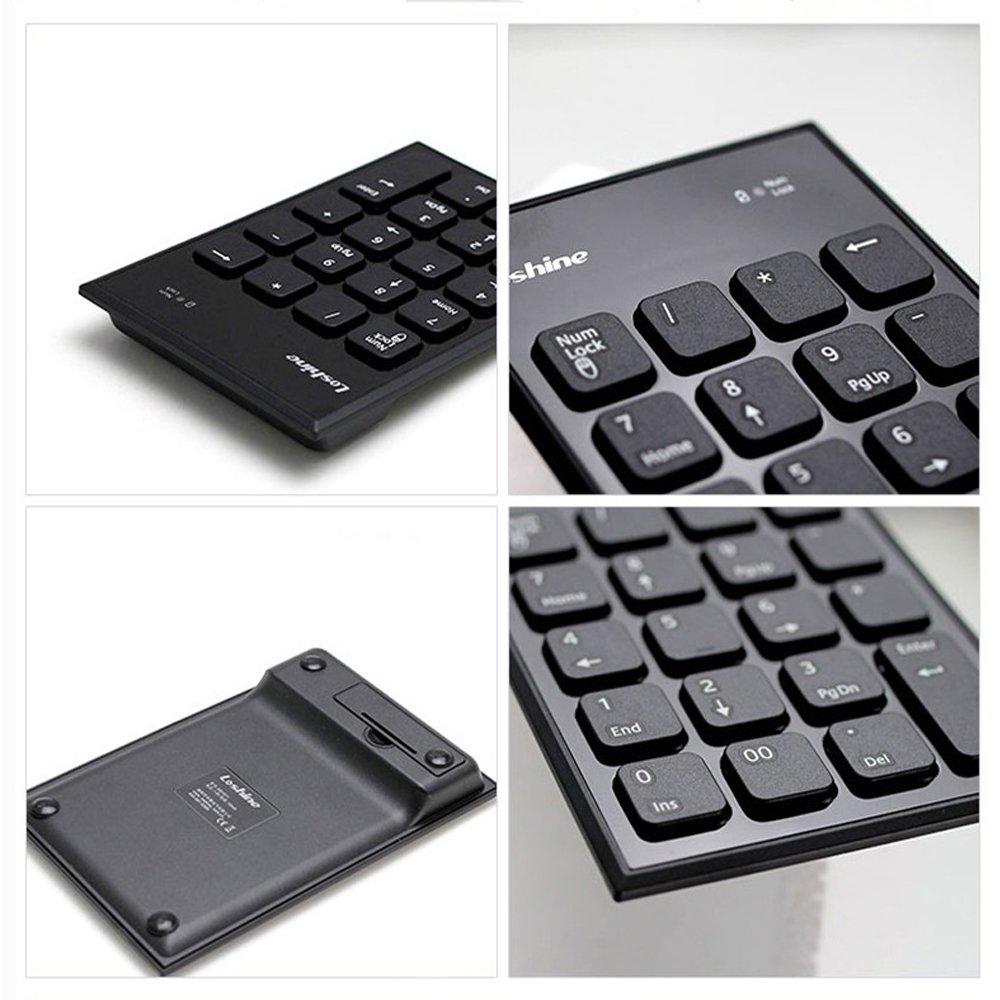 Wireless Numeric Keyboard 2.4G USB Number Pad Full Size 19 Keys Portable Keypad for Windows MAC Laptop PC with LCD Display
