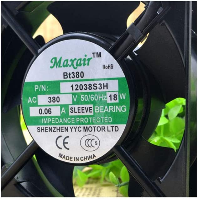 Cytom for Maxair BT380 12038S3H 380V 18W 0.06A 12CM 12038 AC Cooling Fan