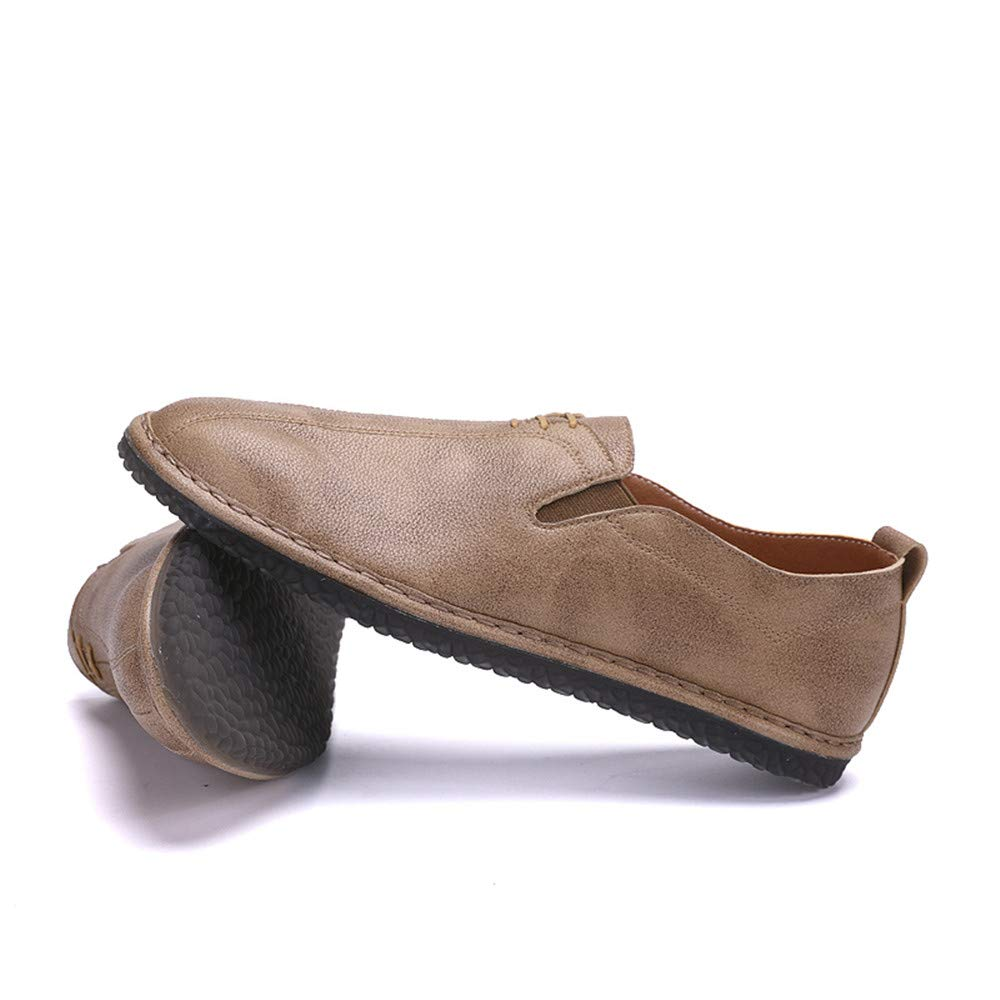 Jiuyue schuhe, Sommer 2018 Herren Weiches Business Oxford Casual Light Weiches Herren Leder Atmungsaktiv Ein Fußpedal Lofer (Farbe : Schwarz, Größe : 39 EU) Khaki 758ce3