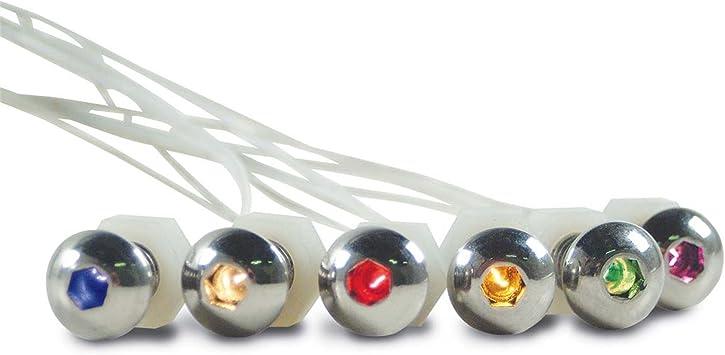"""DEI 030303 LED BUTTONHEAD BOLTS 12-VOLT 5//16/"""" X 3//4/"""" WHITE LED LITE ACCENT LIGHT"""