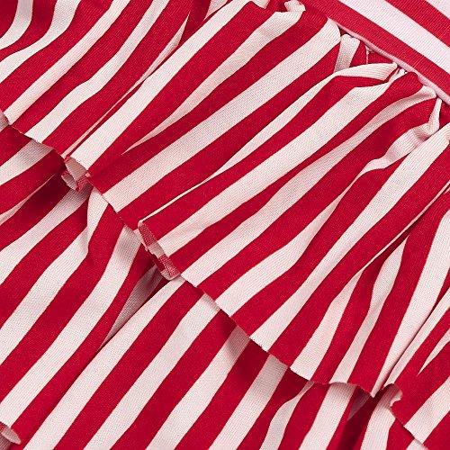 Deux Bambin 7 Bain Ans Gilet Halter Pièces Gâteau Jaune Amlaiworld Jupe Swimsuits De Couche Nu Maillot Dos À 10 Imprimé Bébé Été Fille Rayures Volants xqwaRX1gE