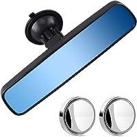 Anti-Glare Day/Night Rear View Mirror Universal Car Truck Interior Rearview Mirror Anti Glare Suction Cup Blue Mirror…