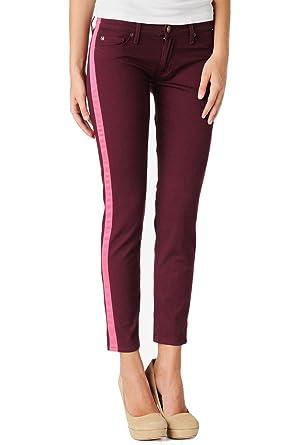 fd7bcb58302 HUDSON Loulou Tuxedo Crop Super Skinny Glow Stripe Jeans Denim Pants (27 x  27L,