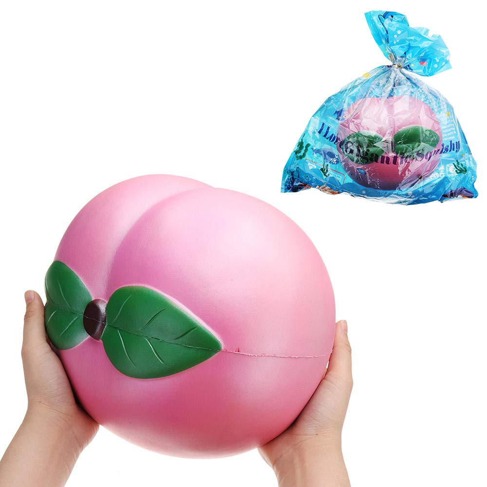 Huge Peach Squishy Jumbo 2523CM Fruit Slow Rising Soft Toy Gift Collection with Packaging Giant Toy by Unknown