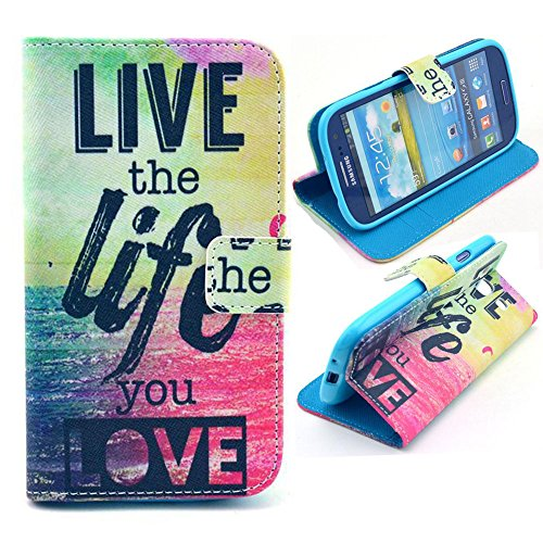 Galaxy S3 Case, M-Zebra Printed Series Light Color Design PU Leather Stand Wallet Type Magnet Design Flip Case Cover For Samsung Galaxy S3 i9300, with Screen Protectors+Stylus+Cleaning Cloth