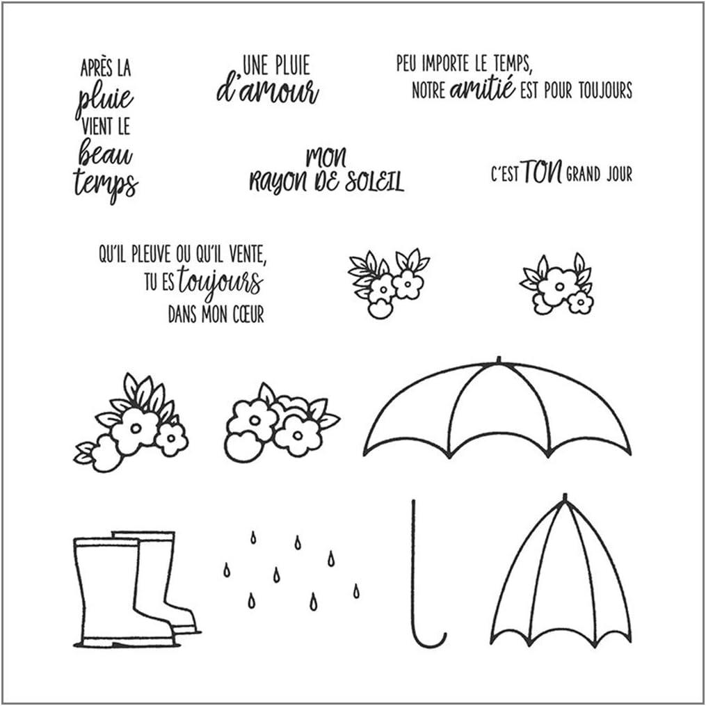 YO-HAPPY Alphabet Fran/çais DIY Silicone Tampon Transparent Scrapbooking Album de gaufrage