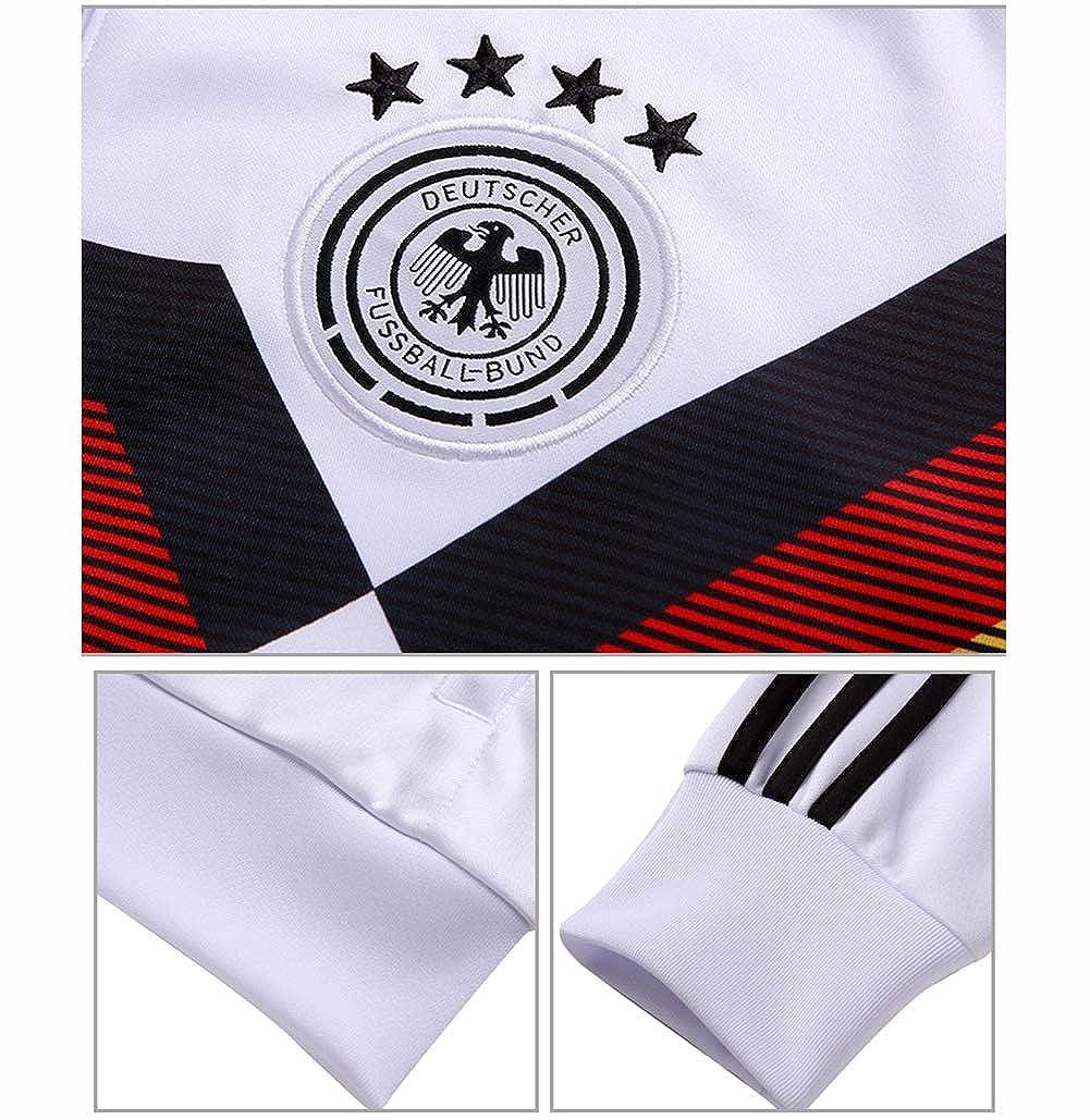 LDKSX Tuta da Allenamento da Uomo in Jersey di Calcio a Maniche Lunghe da Uomo Germania Club 2 Pezzi T-Shirt da Ragazzo T-Shirt per Partite di Calcio S-XL