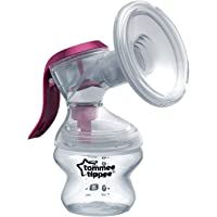 Tommee Tippee Made for Me Manual Breast Pump with baby feeding bottle, White, 0M+