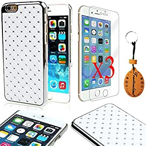"Traitonline PC Material Hard cover for iPhone 6 Plus 5.5"" case Protective skin shell Pouch(White)+3*Screen Protector"