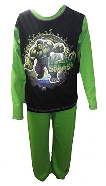 Character Boys pijama de Los Vengadores de The Hulk a partir de 4 permiten el paso
