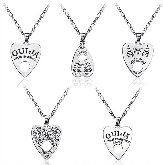 Purple Ouija board necklace Cat Jewelry Ouija necklace Holographic Purple Cat Planchette Necklace Ouija pendant. Cat necklace