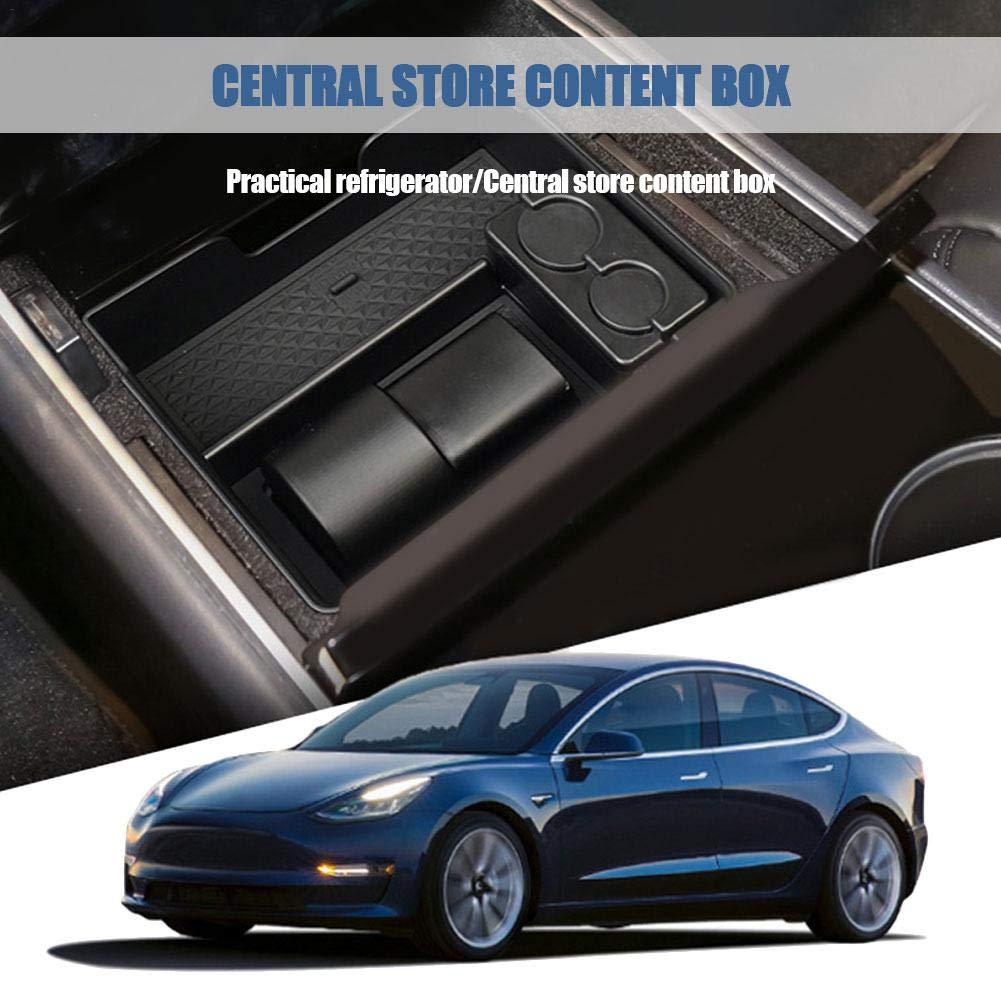 Grandnessry Bo/îte De Rangement Int/érieur De La Voiture Bo/îtier Antid/érapant DAccoudoir Et Console Central pour Tesla Mod/èle 3