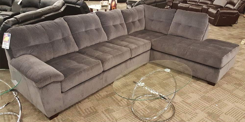 Amazon.com: 2pc Sectional in Barcelona Charcoal Brown or ...