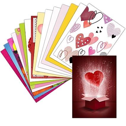 Tarjeta de amor con corazones - Juego de 16 tarjetas ...