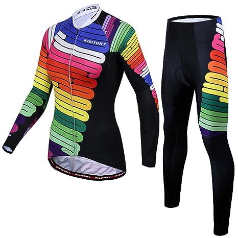 CAOZCH Maillot Ciclismo Mujer Verano Conjunto,Jersey De ...