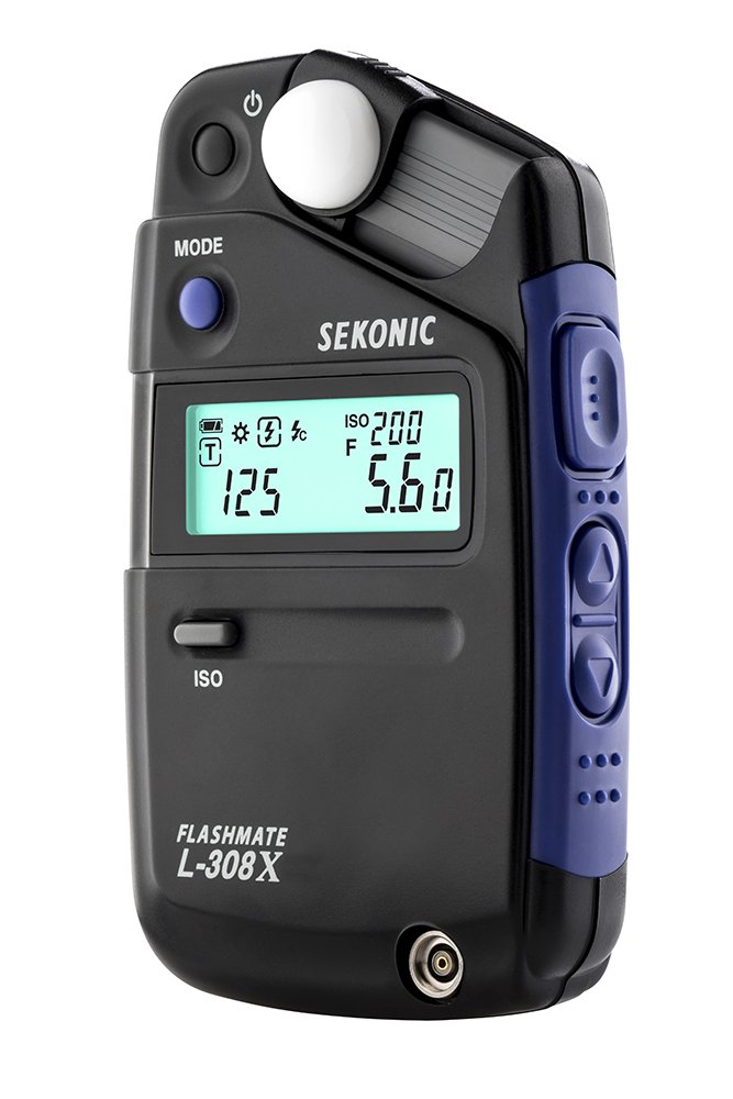 Sekonic FLASHMATE L-308X Photographers and Film Makers Exposure Meter - Black/Blue by Sekonic