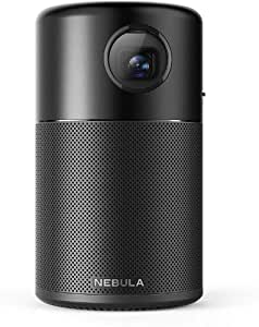 Nebula Capsule, Smart Portable Projector, Pocket Cinema with High-Contrast, Remarkable 100'' Picture, 360° Speaker, Android 7.1, 4 Hour Video Playtime, 30 Hour Music Playtime, Dedicated App and More