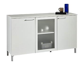 aparador de puertas con cristal de saln comedor blanco perla xcm