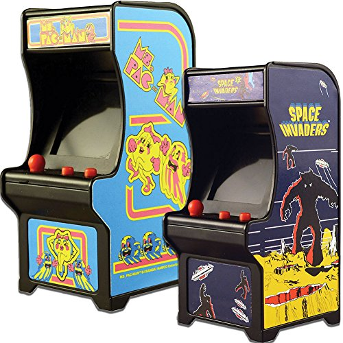 - Johnson Smith Co. (Set) Miniature Classic Handheld Arcade Games Ms Pac-Man and Space Invaders