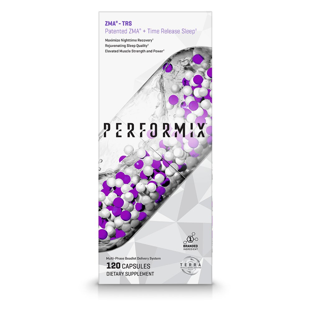 PERFORMIX ZMA -TRS, Patented ZMA + TimeRelease Sleep, Nighttime Recovery, Improve Sleep Quality, 120 Capsules