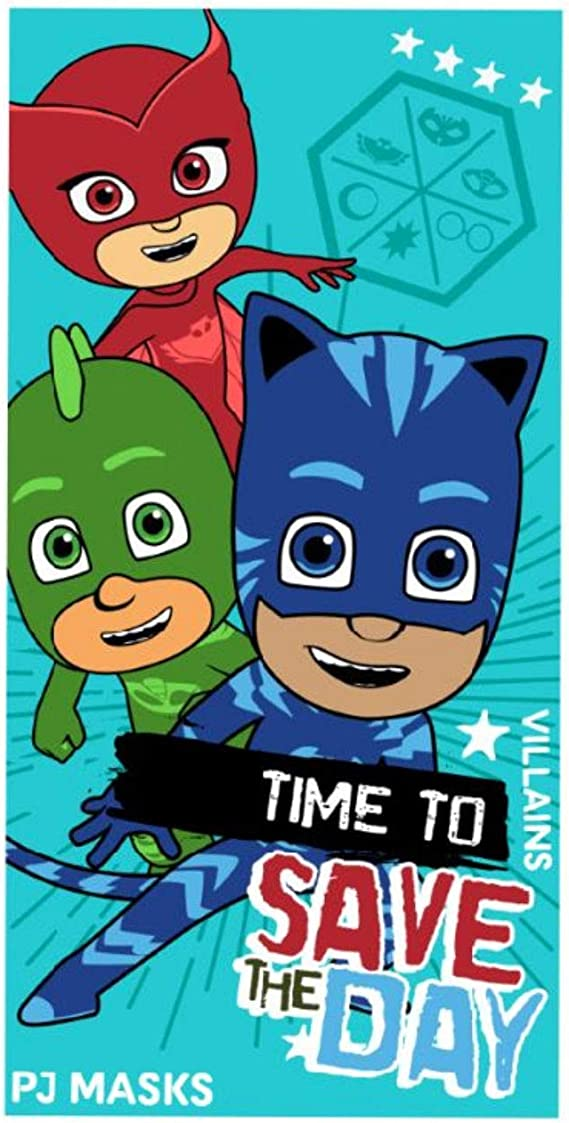 Nickelodeon PJ Masks - Toalla de Playa, Color Azul: Amazon ...