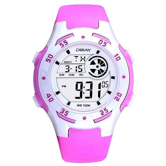Feoya Moda LED Reloj Digital de Pulsera de Cuarzo (Alarma, Calendario, Cronómetro) Resistente al Agua 50M Infantil Watch para Niños Niñas Estudiantes ...