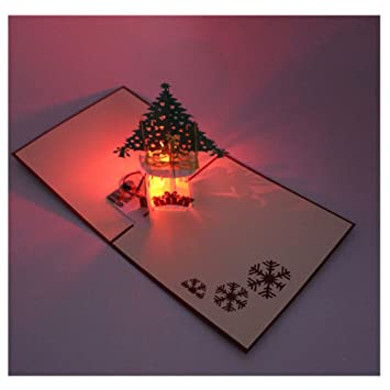 New 3d Pop Up Greeting Card Cooliya Hand Made Light Up Music Gift