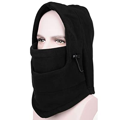AYAMAYA Fleece Balaclava Hood Neck Tube Skiing Cycling Motorcycle Full Face Mask