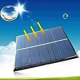 5V 1W 200mA Monocrystalline Solar Panel Power Bank DIY Sonnenkollektor Solarmodul