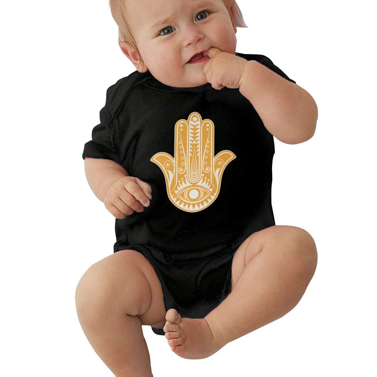 Newborn Baby Girl Boy Hamsa Hand RomperRomper Jumpsuit Short Sleeve Bodysuit Tops Clothes