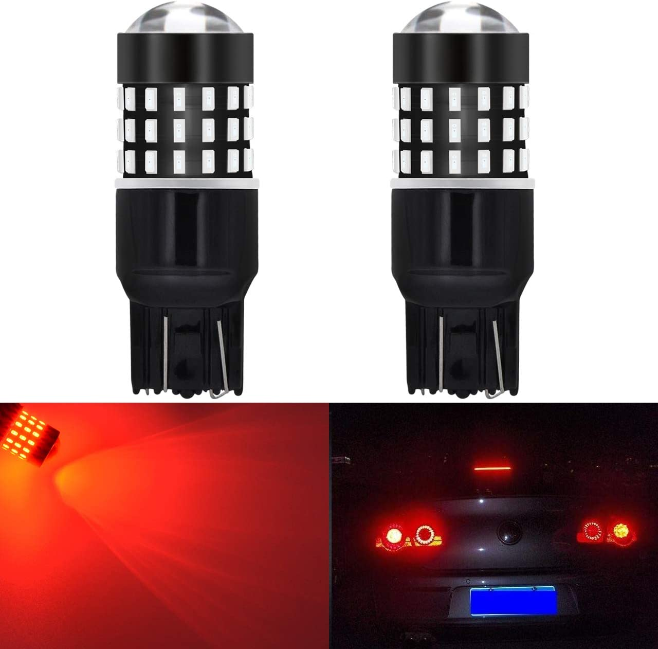 Pack of 2 KATUR 1157 BAY15D P21//5W 1034 7528 LED Bulbs Super Bright 12pcs 3030 /& 8pcs 3020 Chips Canbus Error Free Replace for Turn Signal Reverse Brake Tail Stop Parking RV Lights,Brilliant Red
