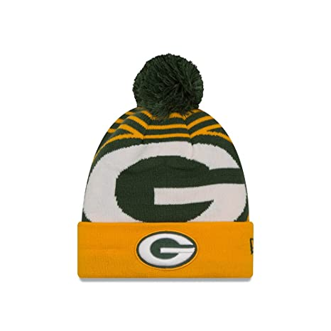 d28e635bec7 Image Unavailable. Image not available for. Color  Green Bay Packers New Era  NFL  quot Logo Whiz 2 quot  Cuffed Knit Hat with