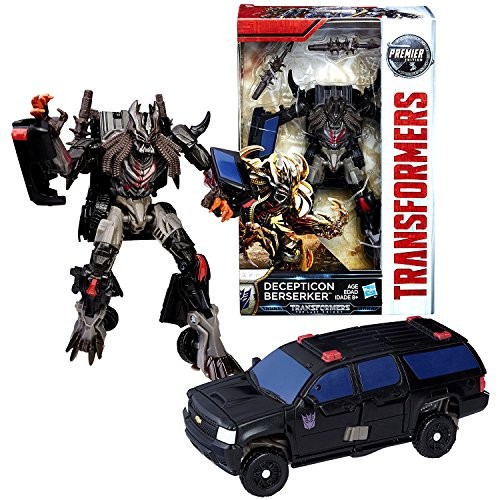 Year 2016 Transformer The Last Knight Movie Premier Edition Series Deluxe Class 6 Inch Tall Figure - Decepticon Berserker with 2 Spike Clubs (Vehicle: Chevy Suburban)