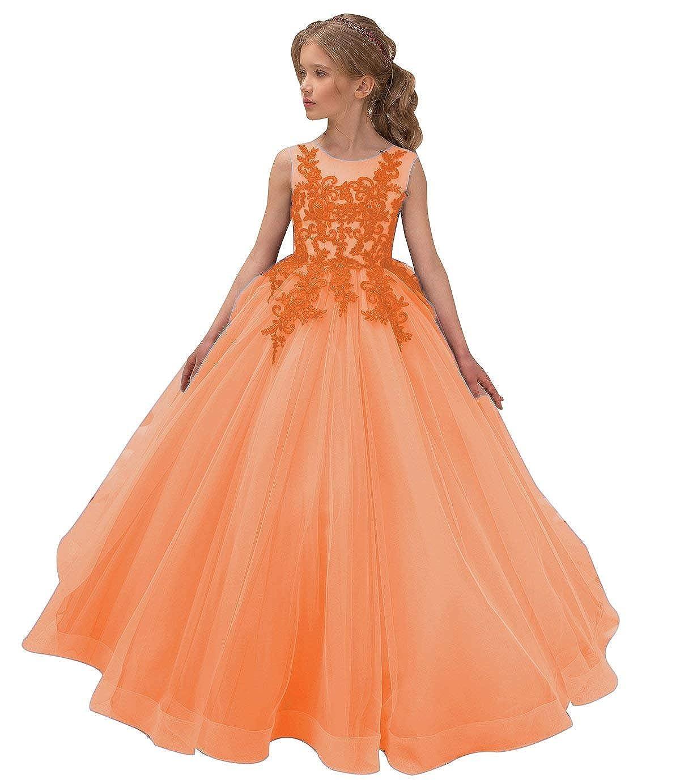 Orange 6-7 ans BeyondRobe - Robe - Trapèze - sans Manche - Fille