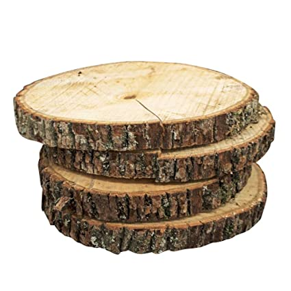 amazon com natural wood slices round basswood slabs 9 to 11