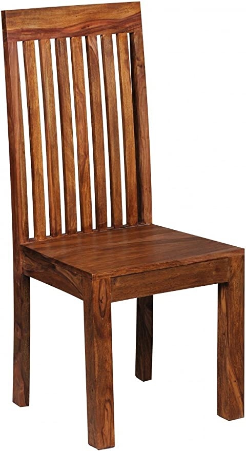 Wohnling Set Of 2 Dining Room Chairs High Back Chairs Solid Wood Double Pack Amazon De Kuche Haushalt