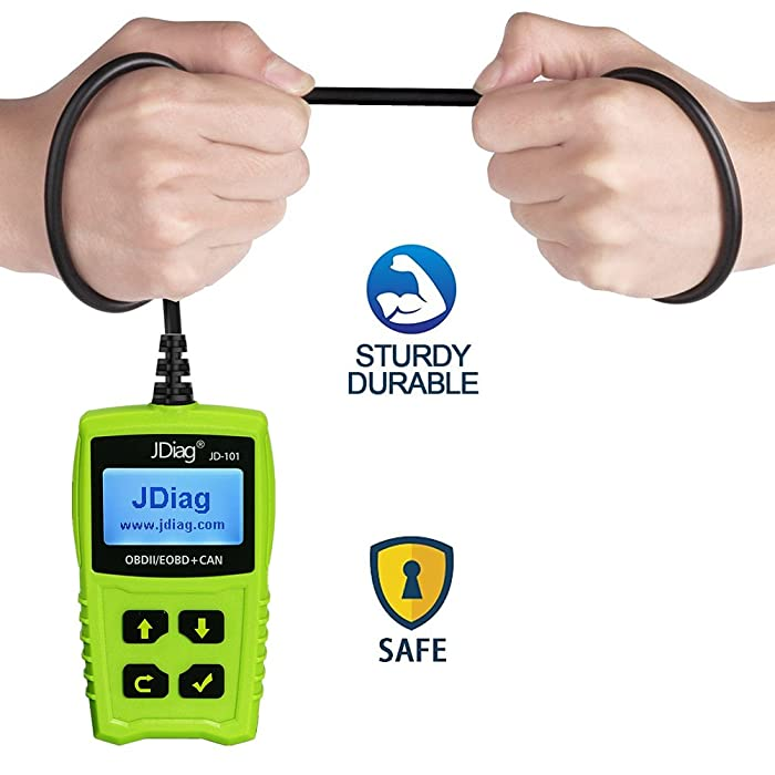 JDiag JD101 is an powerful diagnostic tool that supports Comfortable big size 4-Button control.