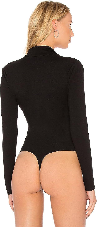 May/&Maya Womens Zip Front Turtleneck Bodysuit Jumpsuit Leotard