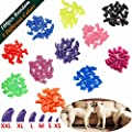 JOYJULY 100pcs Dog Nail Caps Soft Claw Covers Nail Caps for Pet Dog Pup Puppy Paws Home Kit, 5 Random, with Glue, Tips and Instruction by JOYJULY