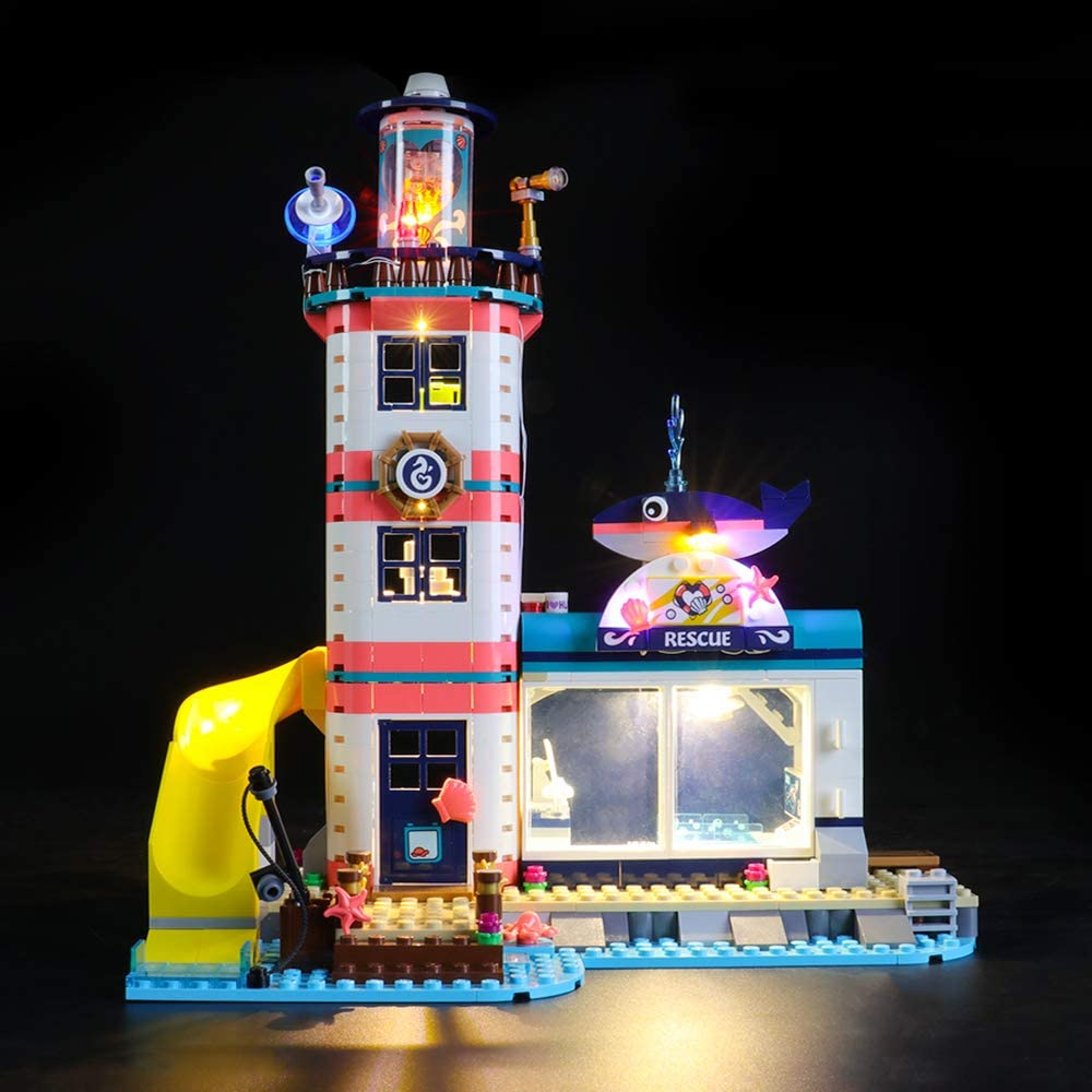 Friends Lighthouse Rescue Center Building Blocks Model NOT Included The Model Led Light kit Compatible with Lego 41380 LIGHTAILING Light Set for