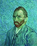 'Self Portriats-Vincent Van Gogh,1889' Oil Painting, 8x10 Inch / 20x25 Cm ,printed On High Quality Polyster Canvas ,this Beautiful Art Decorative Prints On Canvas Is Perfectly Suitalbe For Powder Room Decoration And Home Artwork And Gifts