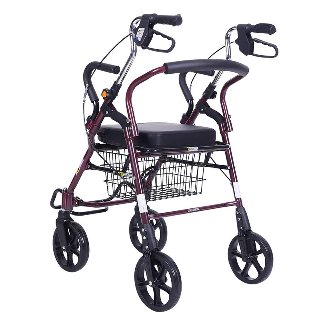 割引購入 歩行器 : ウォーカーショッピングカートカート古いスポーツカー折りたたみ四輪ウォーカー小型プルカットベアリング重量120kg老人のための最高のギフトを与える黒 B07M9W1D1N (Color : Red) Red) Red B07M9W1D1N, NK プロユース:c33f88d9 --- a0267596.xsph.ru