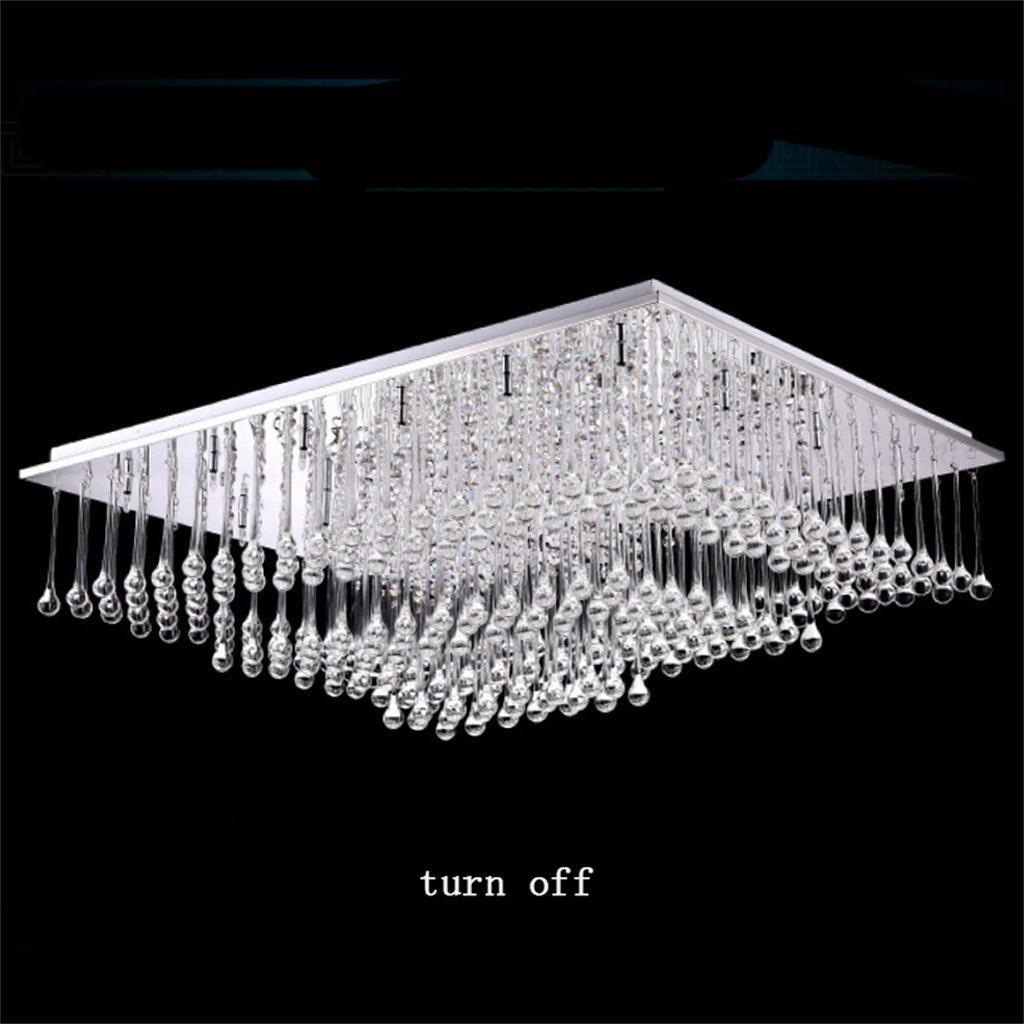 TOYM UK-Moderne minimalistische LED-Kristall-Lampe Wohnzimmer Decke ...