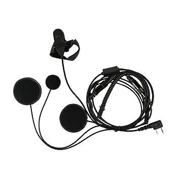 SODIAL Microfono Auriculares del Casco de Bicicleta Motocicleta Moto Cara Completa Microfon para Radio bidireccional Kenwood