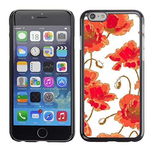 Premio Sottile Slim Cassa Custodia Case Cover Shell // V00002460 Seamless poppy // Apple iPhone 6 6S 6G PLUS 5.5""